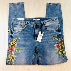 HP!!NWT 💗 Amazing Dex floral jeans size 27 skinny